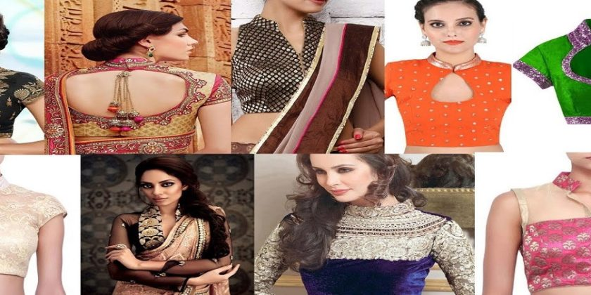 Top Collar Neck Blouse Designs For Saree And Lehengas
