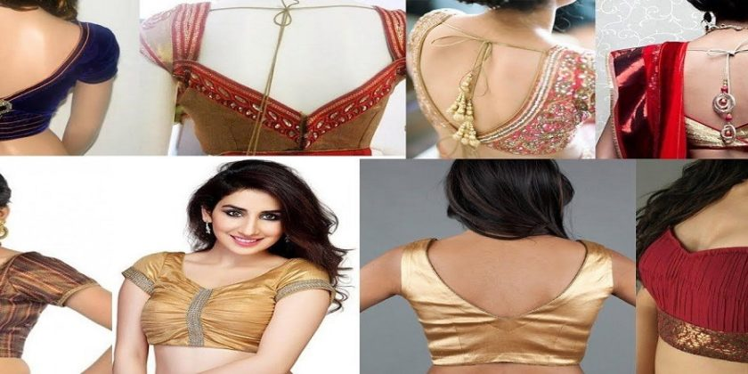 Top Latest V Neck Blouse Designs For Saree